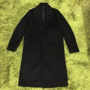 ASOS design longline coat mens size small black